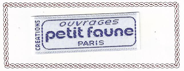 Etiquette ouvrages Petit Faune