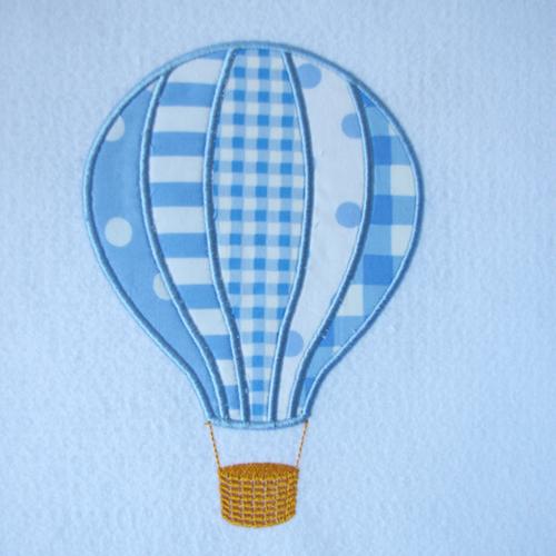 Broderie machine montgolfière