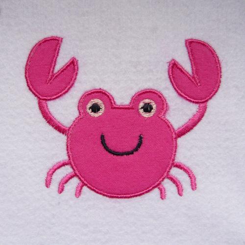 Broderie machine crabe