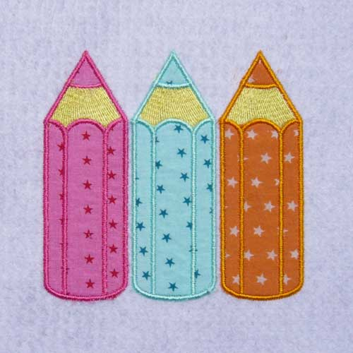 broderie 3 crayons