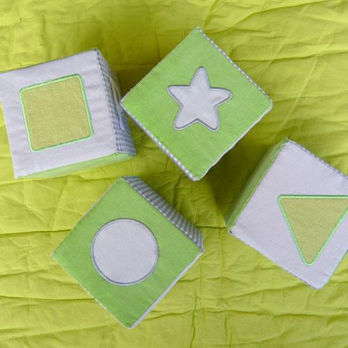 Cubes en mousses formes