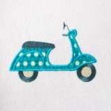 Broderie scooter