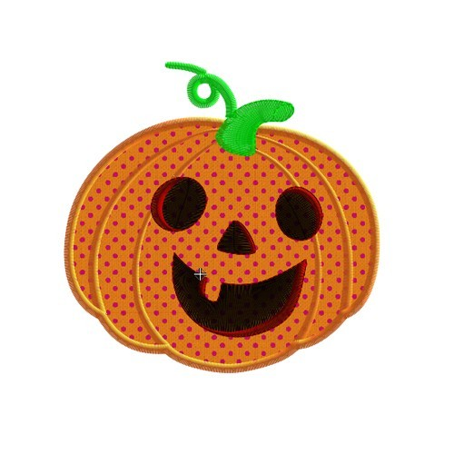 Motif broderie machine citrouille d'halloween