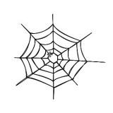 Motif broderie machine toile d'araignée