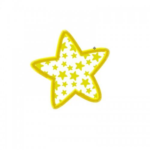 Broderie machine gratuite, appliqué étoile