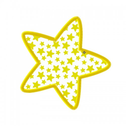 Broderie machine appliqué étoile