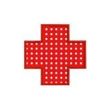 Motif broderie machine appliqué, croix rouge