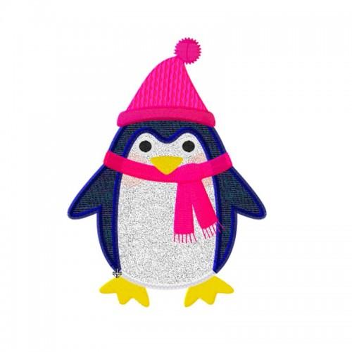 Motif Broderie machine pingouin