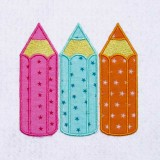Broderies machine crayons couleurs