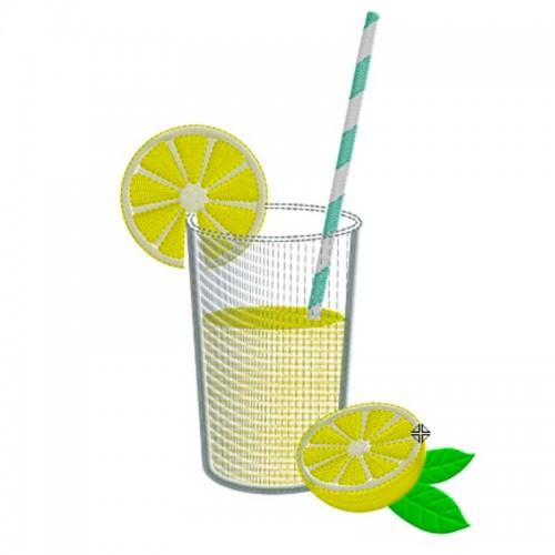 Motif broderie machine limonade