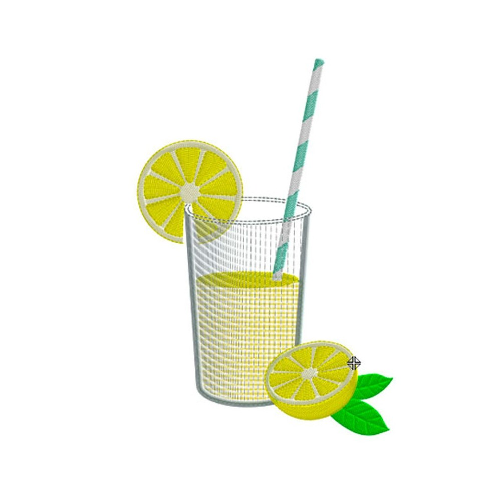 Motif broderie machine limonade