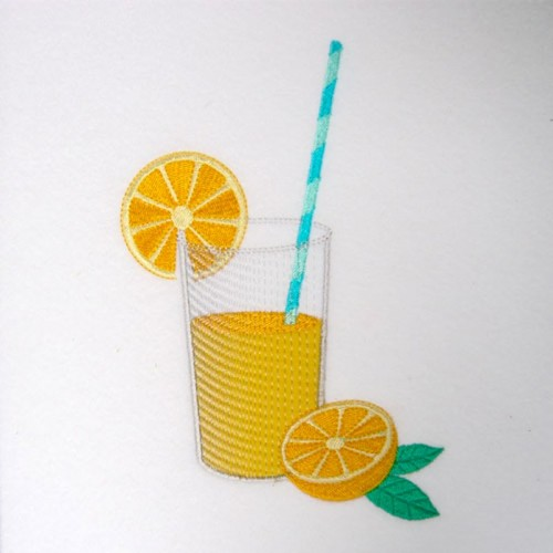 Broderie machine limonade