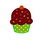 Motif broderie machine cupcake