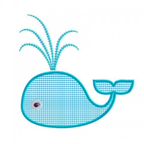 Motif broderie machine baleine
