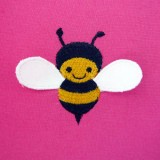 Broderie machine abeille 3D