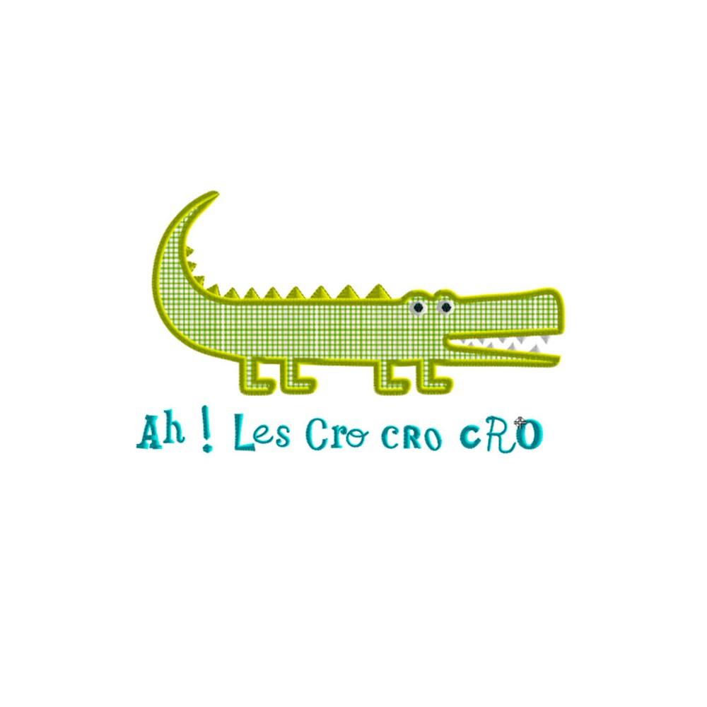 Motif broderie machine crocodile