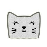 Motif broderie machine tête de chat en appliqué