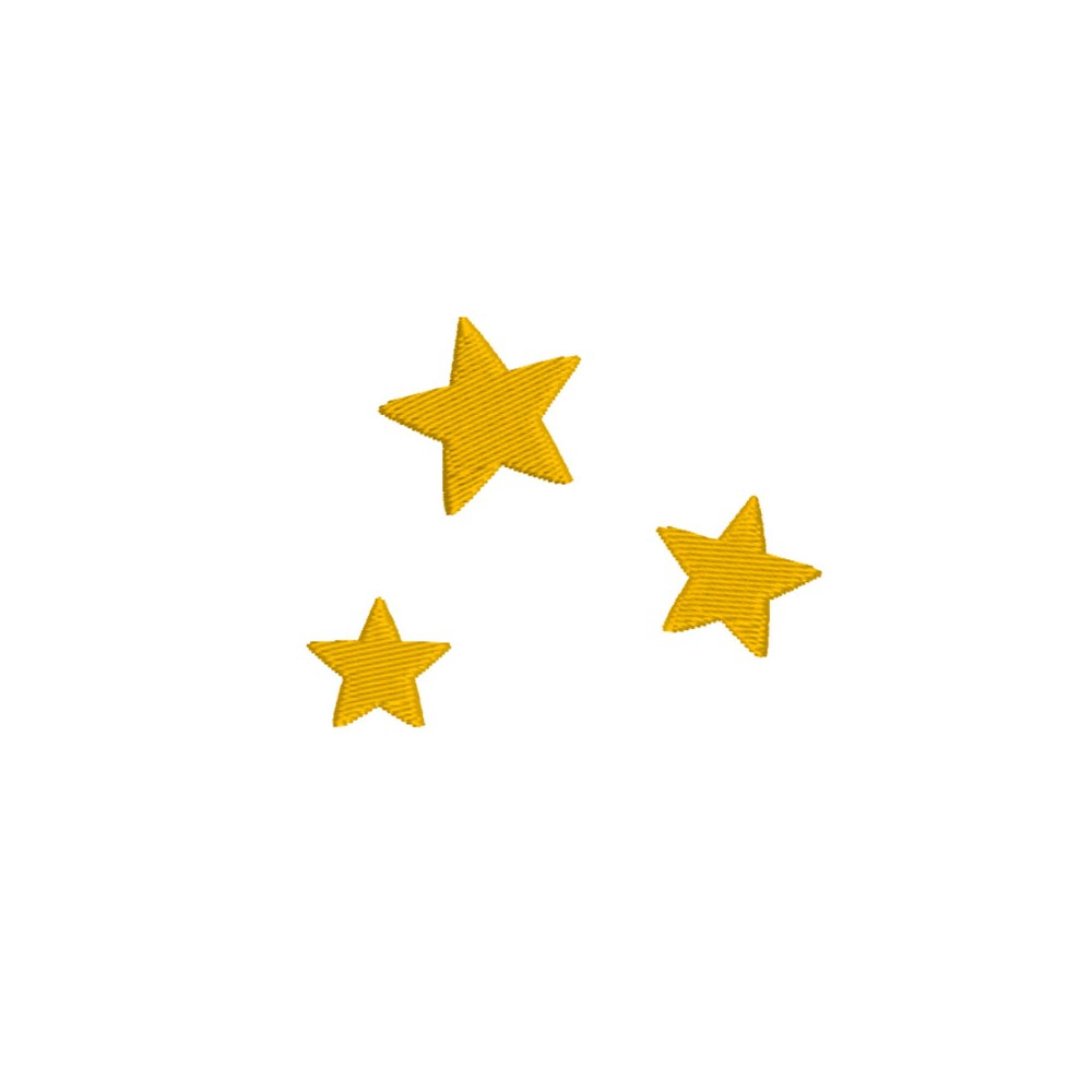 Broderie machine gratuite, 3 petites étoiles