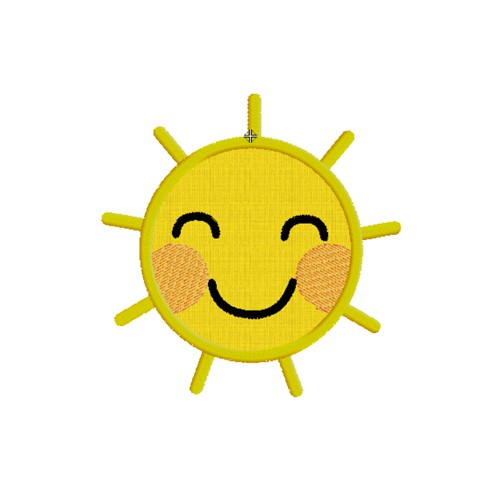 Motif Broderie machine appliqué soleil