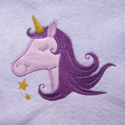 Broderie machine licorne