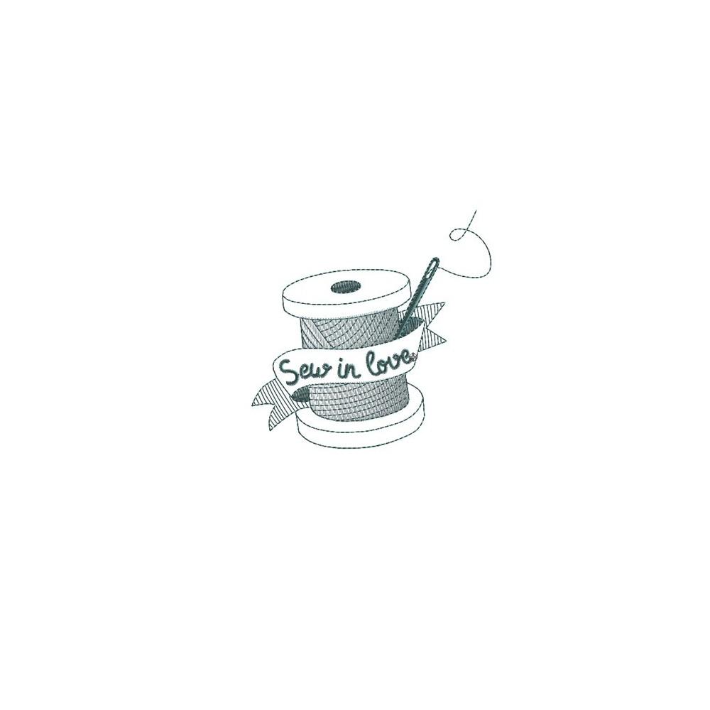 Motif broderie machine bobine de fil