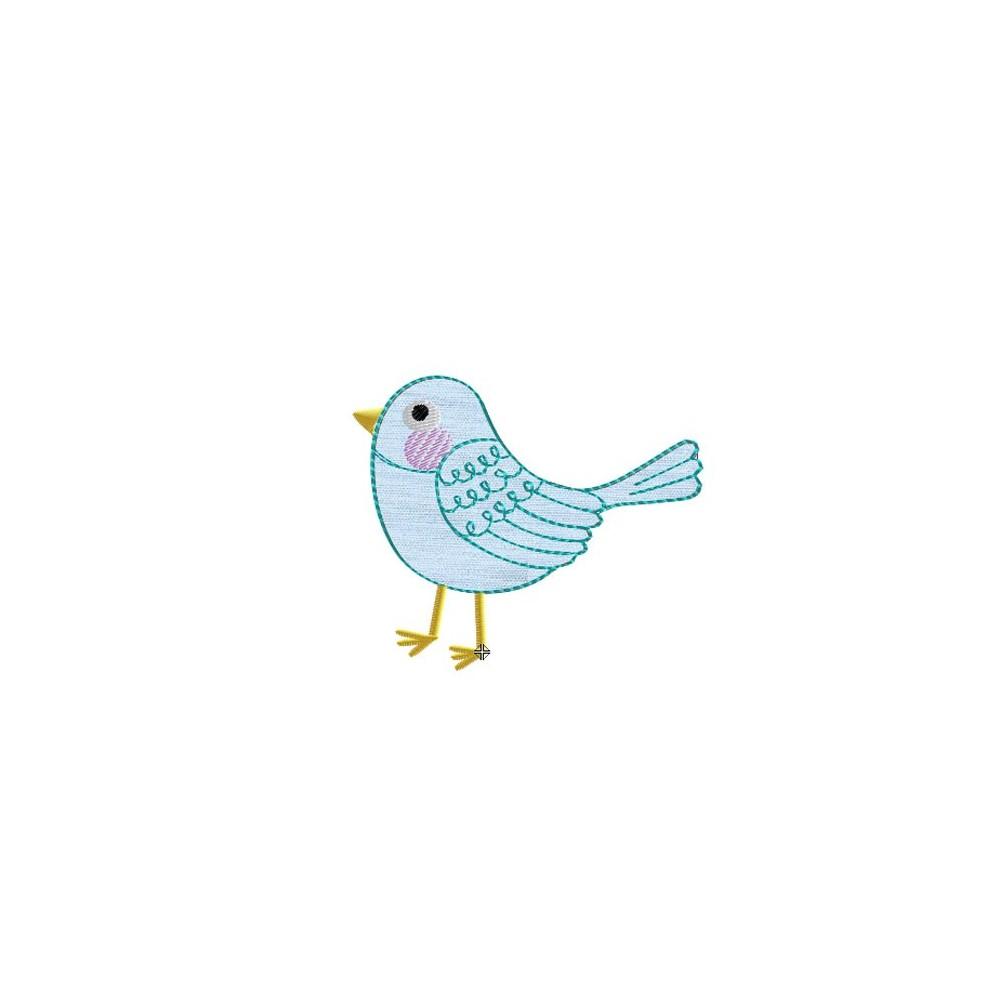 Motif broderie machine oiseau