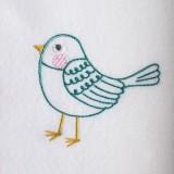 Broderie machine petit oiseau