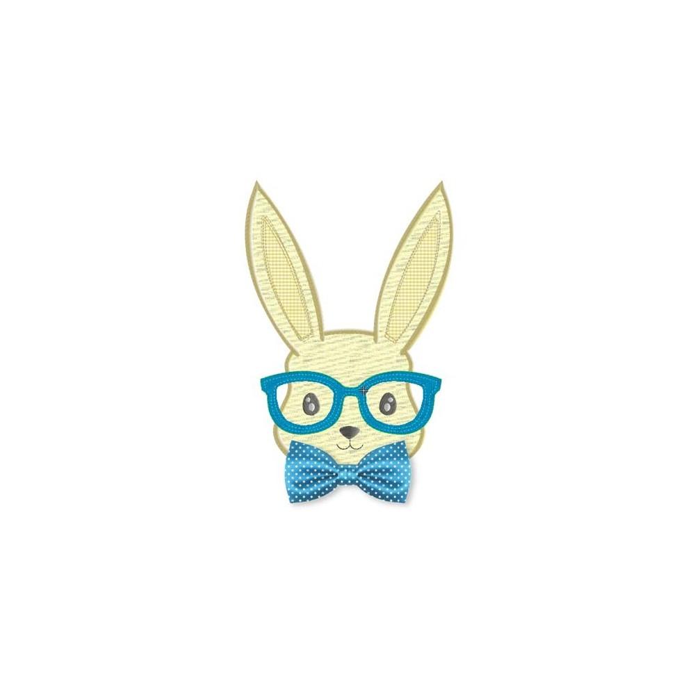 Fichier broderie  machine lapin(e) à lunette