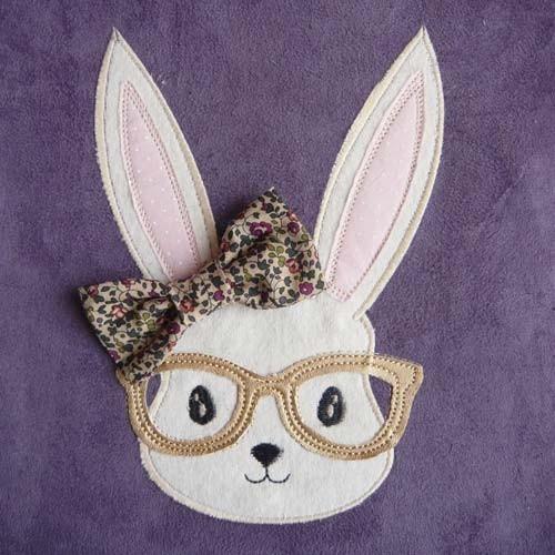Broderie  machine lapine à lunette