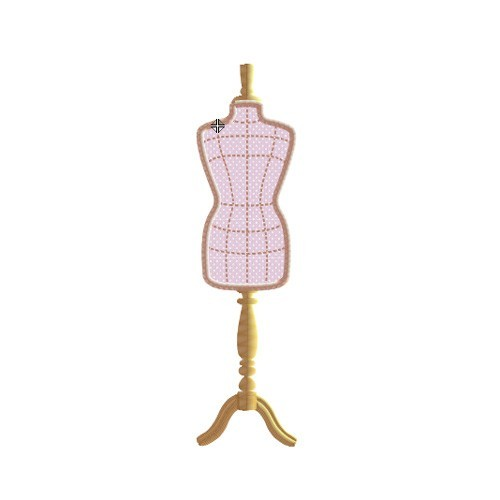 Broderie machine mannequin couture