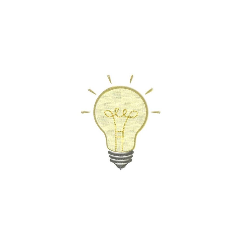 Motif broderie machine ampoule idée