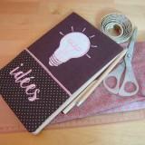 Cahier d'idées, ampoule brodée