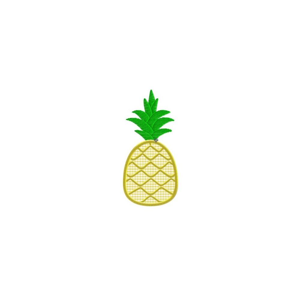 Motif broderie machine ananas