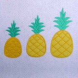 Broderies machines 3 ananas