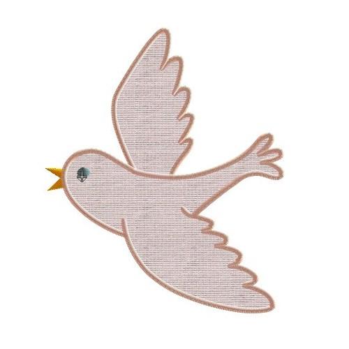 Motif broderie machine oiseau qui vole