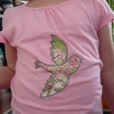 Tee-Shirt appliqué oiseau